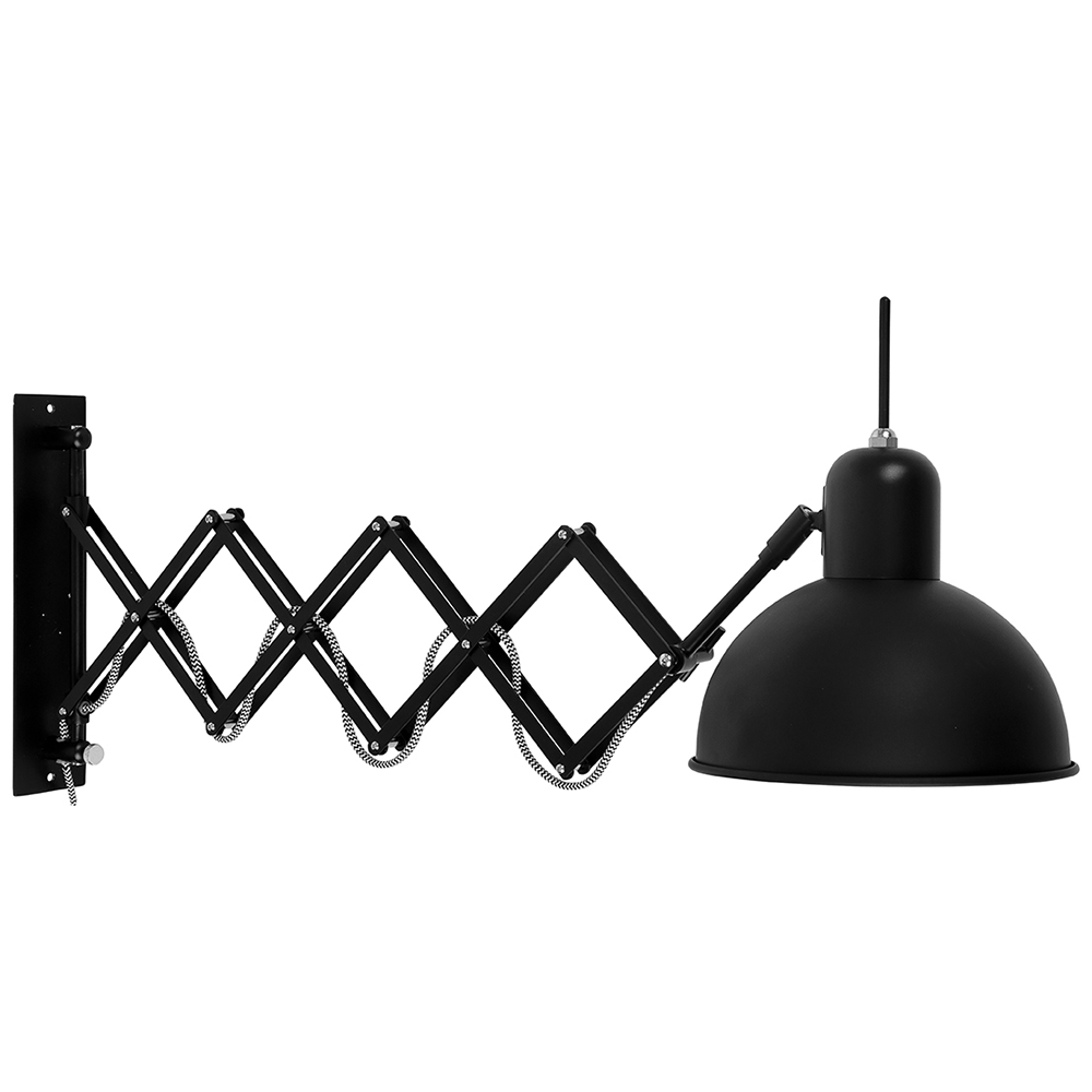 aberdeen schaarlamp verstelbare wandlamp it 39 s about romi home stock. Black Bedroom Furniture Sets. Home Design Ideas