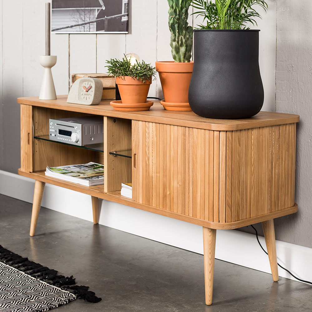 barbier sideboard retro kastje essenhout home stock