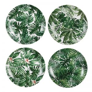 &Klevering - servies met print jungle/bladeren