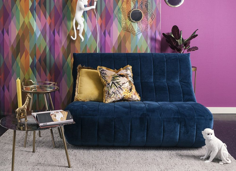 theobert bank blauw loveseat