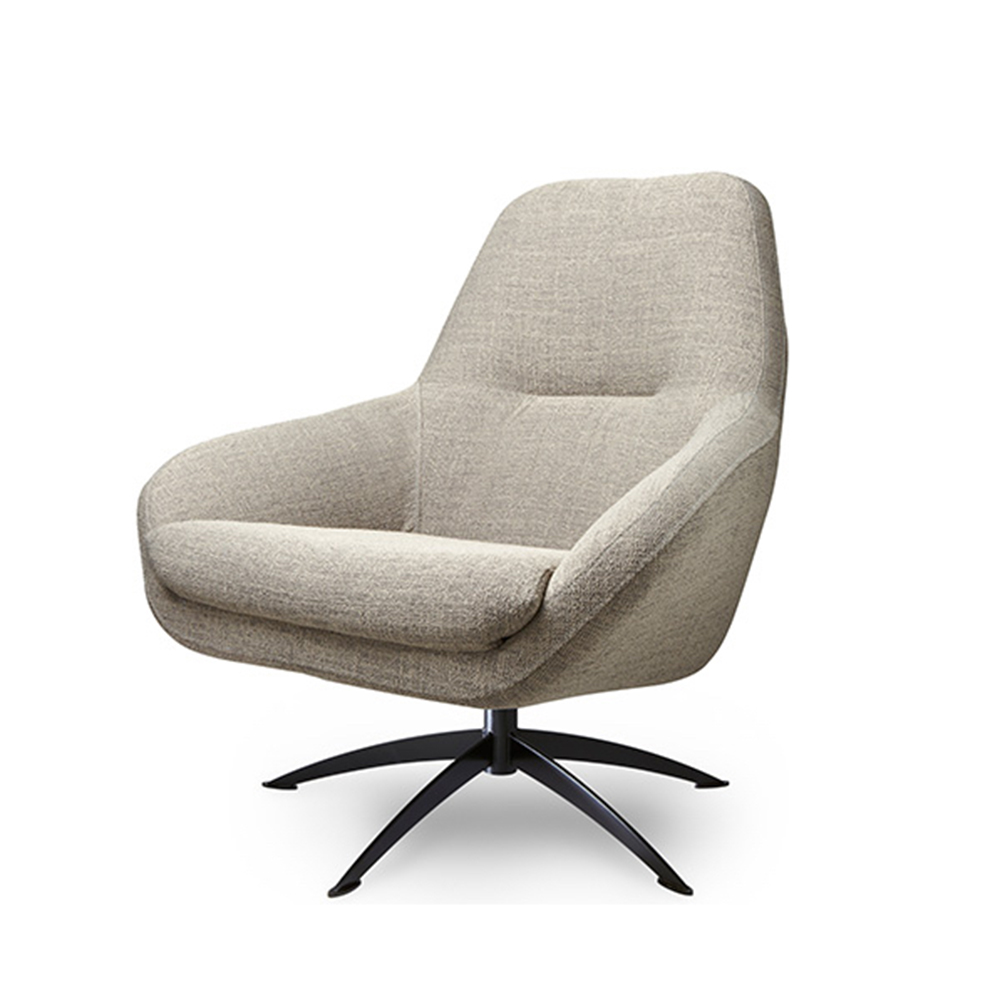 fauteuil nightfall leer of stof home stock