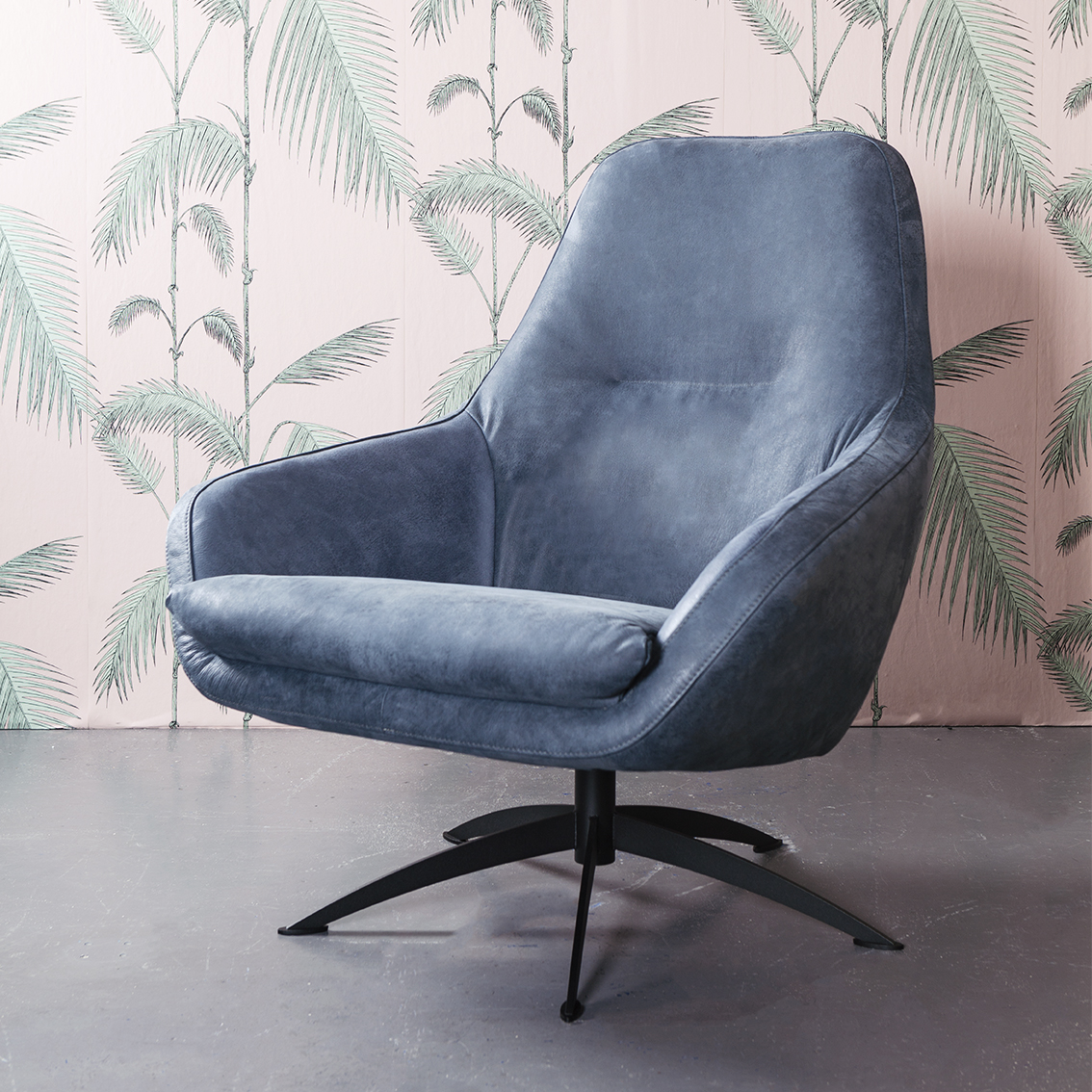 Fauteuil Wit Stof.Fauteuil Nightfall Leer Of Stof Home Stock