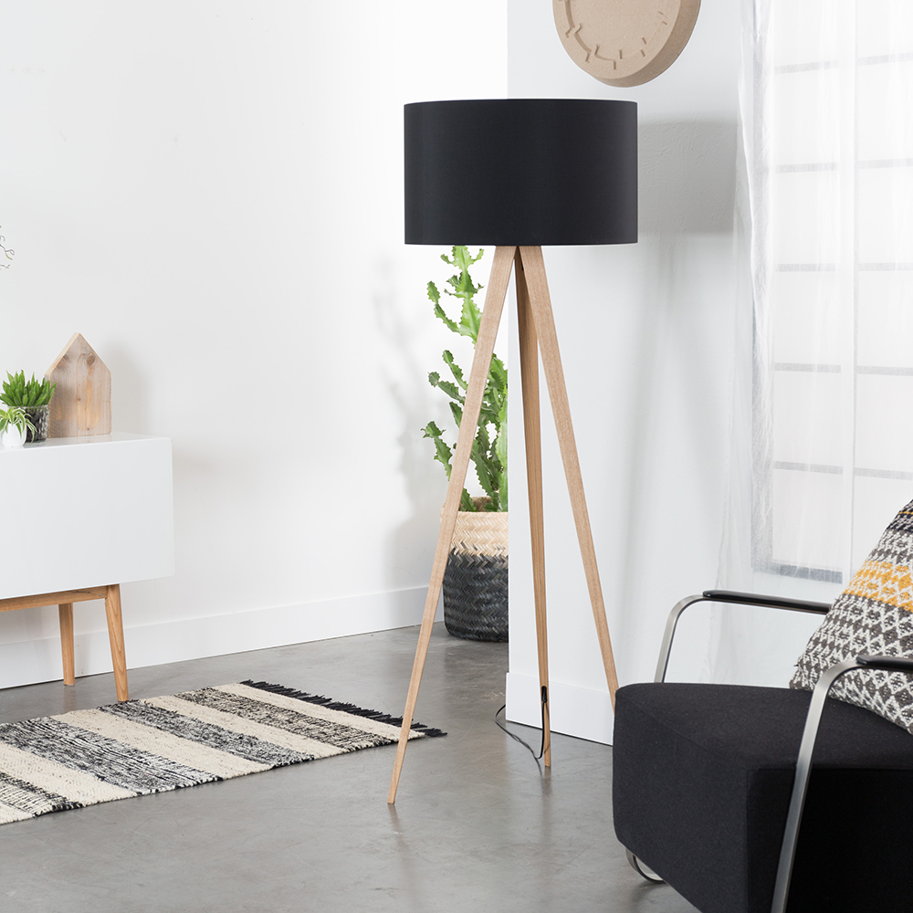 Zuiver tripod wood lamp - driepoot hout stalamp | Home Stock