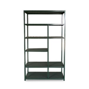 CB-1397HQ#1192 Bibo single dresser w meshshelves 100x35x180 Green metal (1)