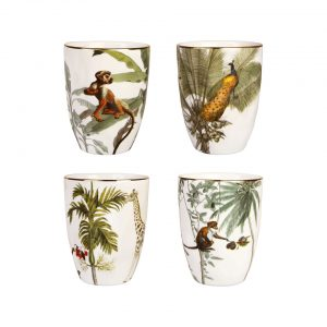 Jungle Bekers set van 4 c