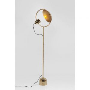 HOME-STOCK-KARE-Floorlamp reflector brass