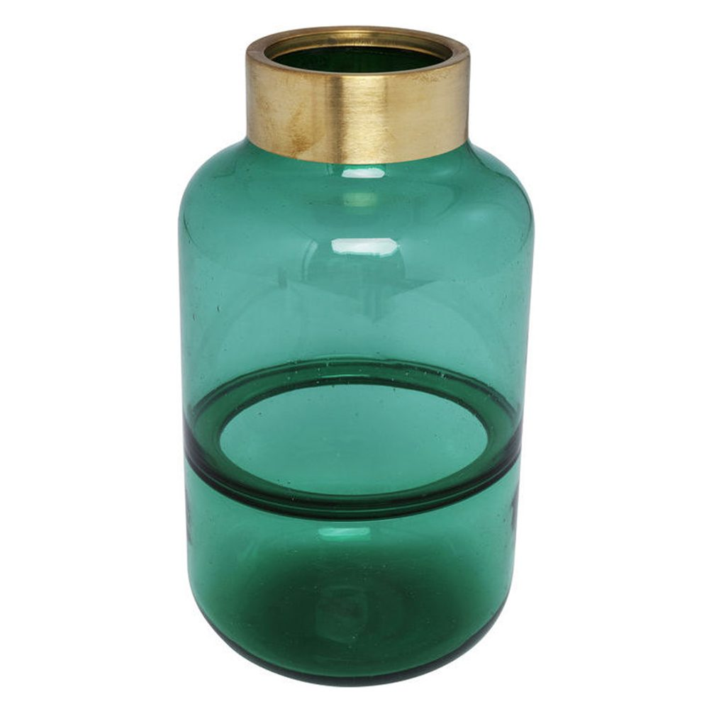HOME-STOCK-KARE-Vase Positano Belly Green-BLEU 28cm