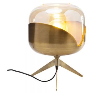 HOME-STOCK-KARE-Table lamp golden goblet ball, pole