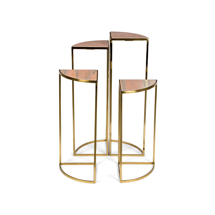 the perfect cocktail side table bijzettafel goud metaal