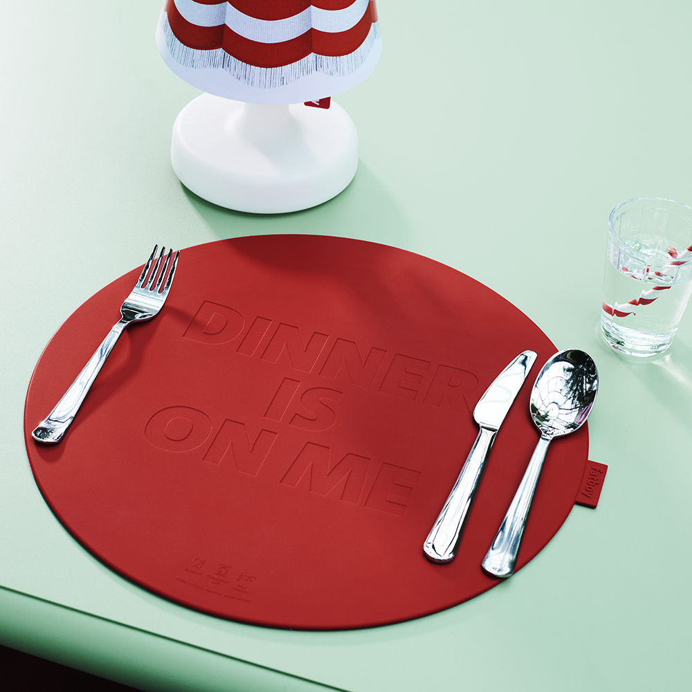 placemat rood geel fatboy