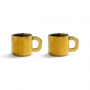 HOMESTOCK-KLEVERING-Mug-canniken-gold-set-of-2
