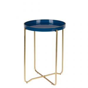 Homestock Side Table Celina Donker blauw